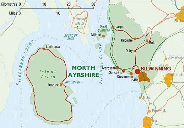 Map of North Ayrshire